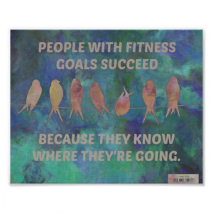 Fitness Goals for Success Quote Posters