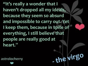 Virgo Quotes Star sign quotes virgo ann