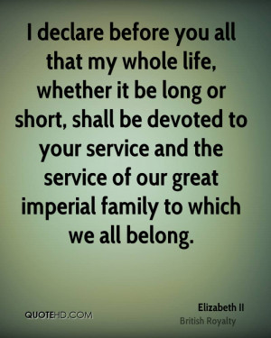 declare before you all that my whole life, whether it be long or ...