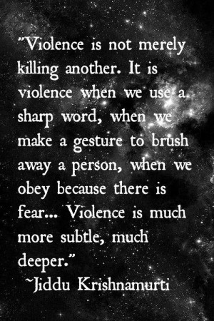 violence is more than the physical side...