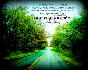 It may be that when we no longer know what to do, we have come to our ...