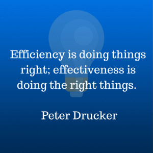 This quote by Peter Drucker, helped me remember the difference.
