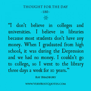 library quotes, education quotes, Thought For The Day