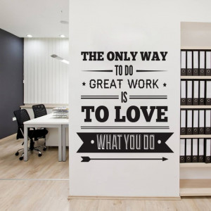 ... Quote - Wall Decoration Art - Success Quote - The Only Way to Do Great
