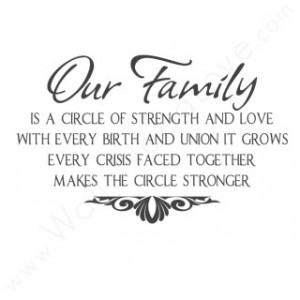 ... Strength and Love With Every Birth And Union It Grows ~ Family Quote
