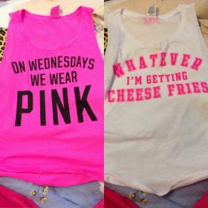 PINK Victoria's Secret - Mean girls quote tanks bundle $40 per shirt ...
