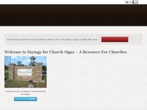 Sayingsforchurchsigns information: