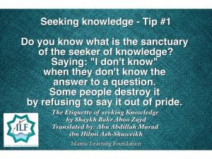 Seeking Knowledge- Tip#1