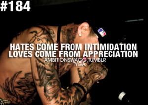 rapper, tyga, quotes, sayings, hate, love, words