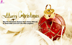... Beautiful Christmas Ball Wallpaper with Wishes Quote Wide 2560x1600