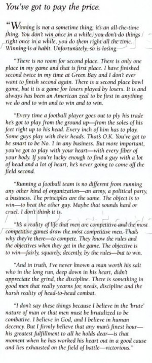 Vince Lombardi Quotes Winning Is Everything