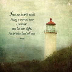 ... Lighthouse Digital Photo Art Print with Rumi Quote on Etsy, $18.00