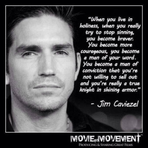 ... what cloth he wears. Wear Godly character. yay Jim!! VL. #JimCaviezel