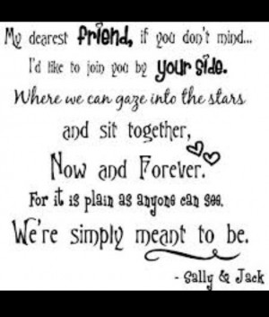 We're simply meant to be together.