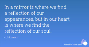 Quotes About Reflection Mirror