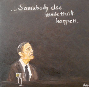 obama Quote Original Oil Painting Folk Art by TeaPartyArt on Etsy, $40 ...