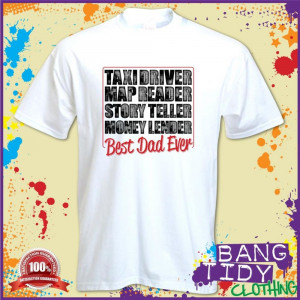 fathers-day-t-shirt-funny-mens-taxi-driver-best-dad-ever-super-dad ...