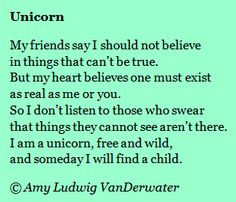 This poem about a unicorn is followed by a brief mini lesson about ...
