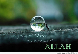 ... of Water is a Blessing - Islamic Quotes About God's Kindness and Mercy