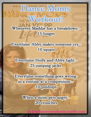 Dance Moms workout