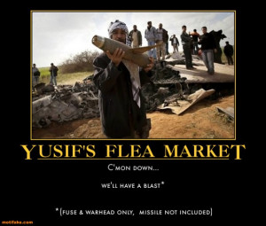 YUSIF'S FLEA MARKET... - demotivational poster