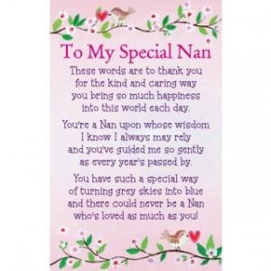 Heartwarmers Keepsake Wallet Card Code K097E To My Special Nan