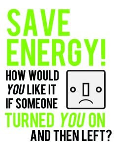 save energy from a quote i saw on pinterest more turn saving energy ...