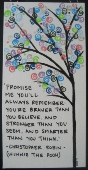 me you ll always remember you re braver than you believe and stronger ...