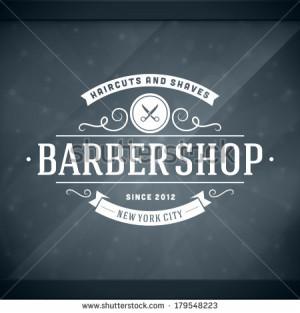 Barber shop vintage retro vector window advertising typographic design ...