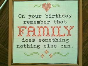 your birthday than your family my sister found a birthday card which ...