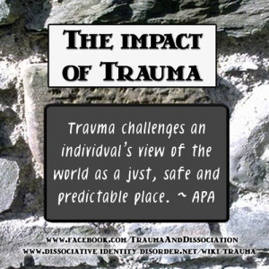 The impact of Trauma - quote by the APA, poster by ...