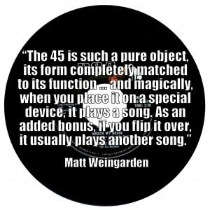 Matt Weingarden - Vinyl Quote
