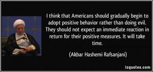 Positive Behavior Quotes