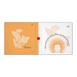 Buddha Lotus Flower Quote Monogram Avery Binder