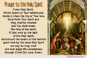 prayer to the Holy Spirit!