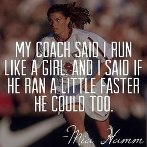 Sarah Williams' pick for Women's History Month is Mia Hamm.