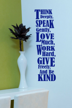 Classroom Wall Decal, Inspirational Wall Words, Think Vinyl Wall Decal ...