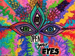 ... Drawing, Eye Inspiration, Psychedelic Art, Hippie Quotes, Eye Art, Art