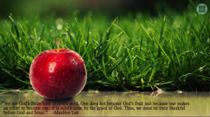 we are god s fruits born of god s seed one does not become god