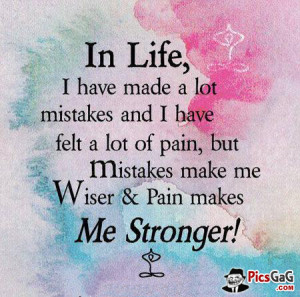 Mistakes in Life Quote Picture For Courage To Tackle Life Problems. in ...