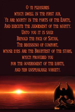 Satanic Quote Crimsonanchors