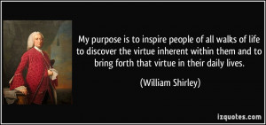 My purpose is to inspire people of all walks of life to discover the ...