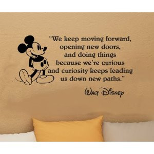 Walt Disney Mickey Mouse We Keep Moving Forward Wall Quote Vinyl Wall ...