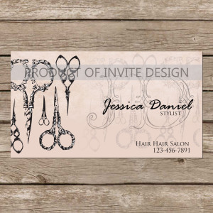 Hair Salon Quotes For Business Cards Hair stylist b.