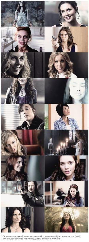 The ladies of Supernatural #Supernatural