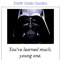Quotes made by Darth Vader from Star Wars