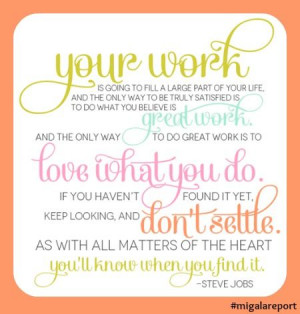 Monday Morning Quote - Your Work