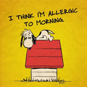 Allergic to mornings. #allergies #EMS