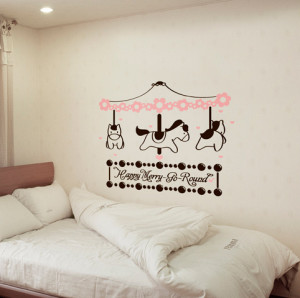 Newsee Decals Carousel Vinyl wall art quotes and saying home decor ...