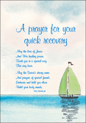 Prayer for Your Quick Recovery